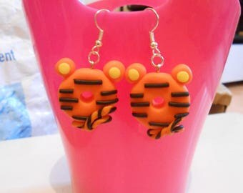"""Tigger"" polymer clay earring"