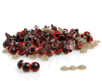 Set of 20 Red 10 mm safety eyes