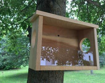 Squirrel feeder Rough Sawn Cedar