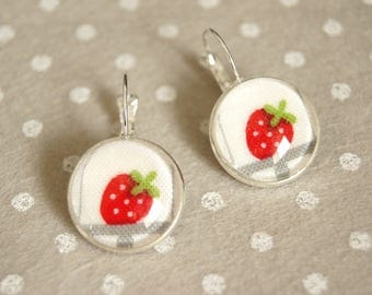 Gluttony Strawberry Stud Earrings