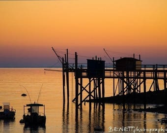 "Photography landscape ""sunset in Charente-Maritime"