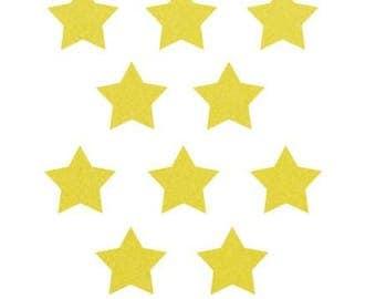 10 little stars clothing yellow velvet 15x15mm