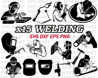 welding svg, welding torch svg, welding mask svg, welder svg,welding tool svg, silhouette, cut files, eps, dxf, iron on,