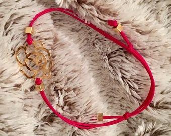 Pretty rose shape bracelet