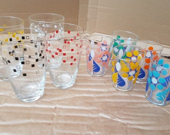Vintage drinking glasses fifties and sixties