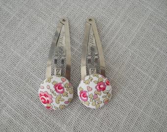 Hair clip - Clack liberty eloise pink, the pair