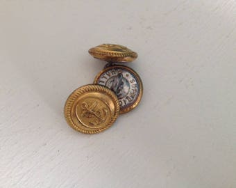 """Anchor Navy"" antique metal buttons"