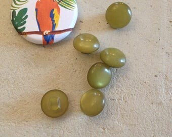 Green vintage buttons set