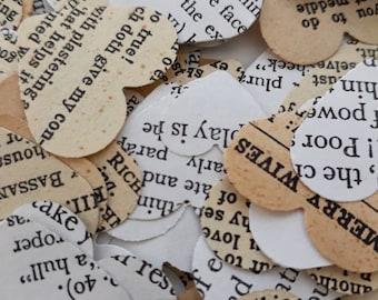 Shakespeare table confetti/Works of Shakespeare decor/Literature wedding/Starcrossed lovers/Wedding table confetti/Elizabethan party decor