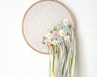 Wildflower Meadow Contemporary Embroidery Art