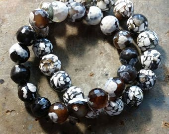 Set of Two Marble Mosaic Style Stretch Bracelets
