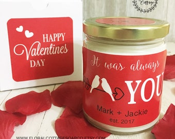 Valentines Gift for Wife//Valentines Day Gift for Girlfriend//Gift for Her//Anniversary Gift//Personalized Gift//Soy Candle//Girlfriend Gift