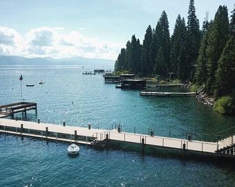 Aerial Photography of Lake Tahoe, California