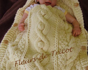 Ange baby knitted honeycomb hand twisted