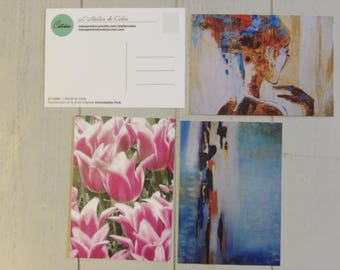 Set of 3 postcards 10.5 x 14.8 cm (5 designs available and other options)