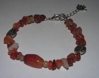 Bracelet genuine carnelian gemstones