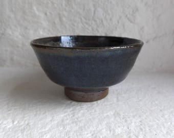 Wood fired stoneware tea bowl