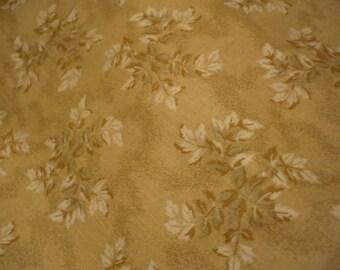 patchwork fabrics cotton beige green white Brown