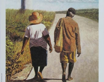 On the Road to Hatchet Bay -  Bahamian art print by Ritchie Eyma