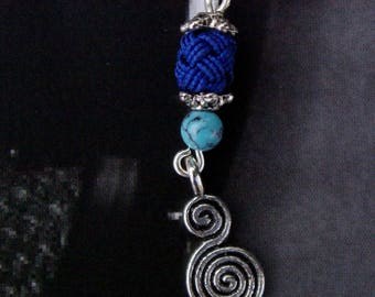 Trimmings Maghreb Royal Blue and turquoise earrings