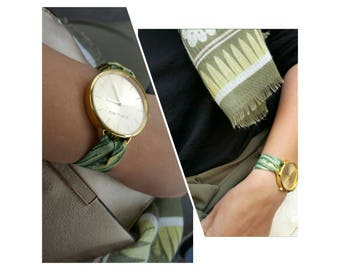 Watch Berhenti bracelet made of quality fabric