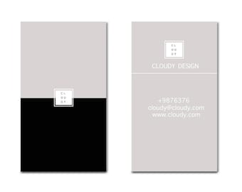 Simple business card etsy simple business card business cards template minimal business cards print business cards online pronofoot35fo Images