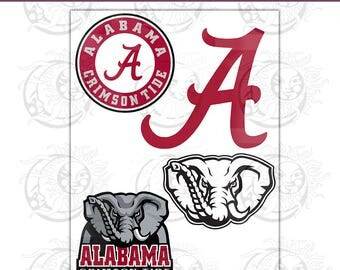 Alabama Logo Elements- SVG, EPS, PNG Cutting and Design Files, Instant Download