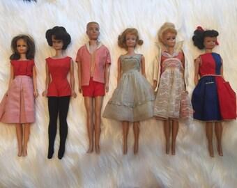 Vintage 1960 to 1969 Barbie / Midge / Ken Mattel Bundle