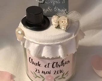 Candle gift for wedding cookies, or for gifts, personalize