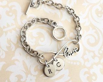 Personalized Name Bracelet with Initials