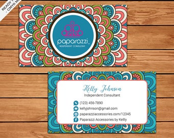 Paparazzi Business Card, Custom Paparazzi Accessories Business Card, Fast Free Personalization, Printable Business Card PZ09