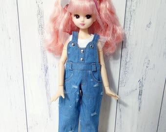 Blythe, Pullip clothes denim overalls and top