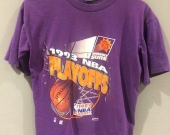 Vintage 90s Phoenix Suns basketball NBA playoffs salem shirt