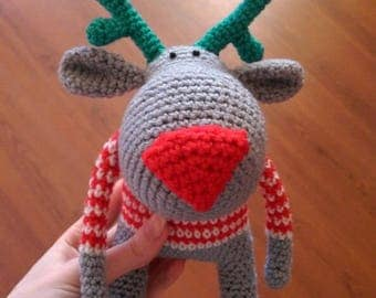 Crochet Toy-Stuffed Animal-Toy-Amigurumi Deer-Baby Shower Gift-Soft Toy-Crochet Doll-Natural Toy-Cuddly Toy-Baby Gift-Birthday Gift-Nursery