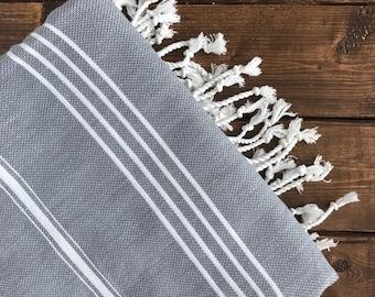 Aegean Turkish Towel - Grey