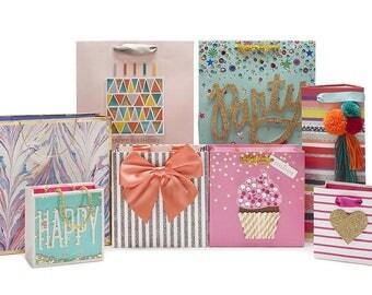 "PICK DESIGN 1 Unique Gift Bag 7-3/4"" x 7-3/4"" x 4-1/3"" Design Bags Shopping, Merchandise, Party, Gift Bags - DIY gift wrap"