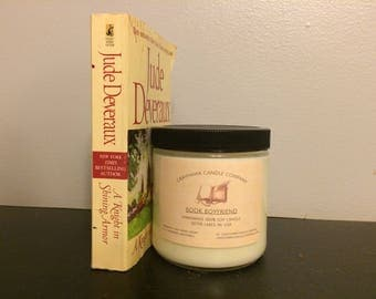 Book Boyfriend:  Literary, Scented Soy Candle, Phthalate Free, GrayHawk Candle Company