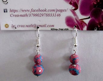 earring 2 red beads