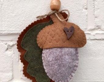 Acorn and Oak Leaf Decoration