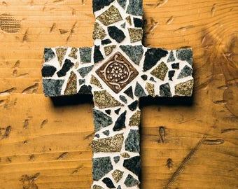 Granite Mosaic Cross, wedding gift, anniversary gift, house warming gift