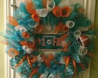 Miami Dolphins NFL Wreath