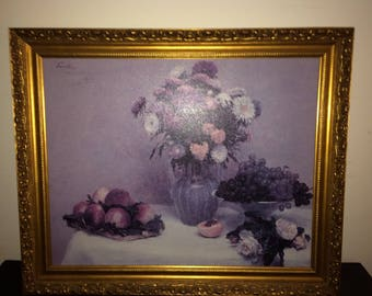 Beautiful Art Fruit Picture and Frame -