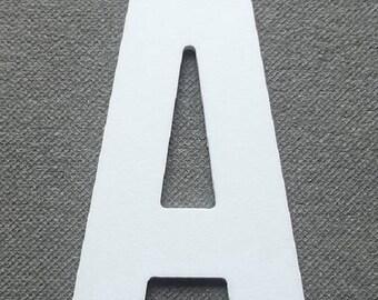 Letter PVC plastic model ALTERNATE GOTHIC; all letters available