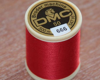 YARN HAS 500M RED 666 MACHINE EMBROIDERY