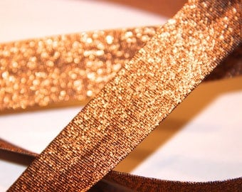 FABRIC POLYESTER / METALIC 18MM SHINY COPPER