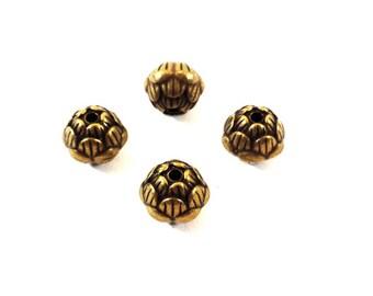 Set of 4 beads lotus bronze (Ref.76)
