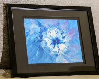 Framed Abstract Acrylic Painting