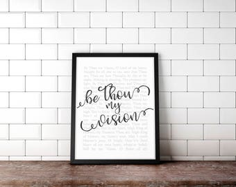 Be Thou My Vision, Art Print, Wall Decor