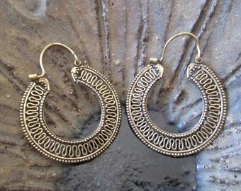 Earrings bronze rings Greca pb-010