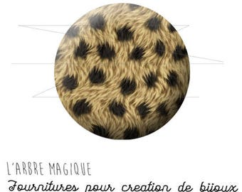 Cabochon 25 mm Cheetah animal fantasy animal wild ref 1568
